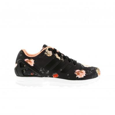 baskets femme adidas zx flux noir leopard blanc
