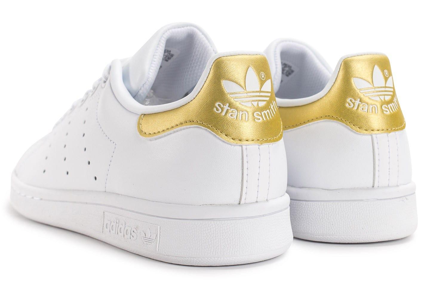stan smith blanche et doré