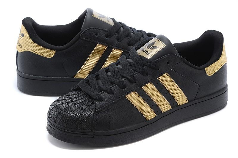 adidas superstar noir gold