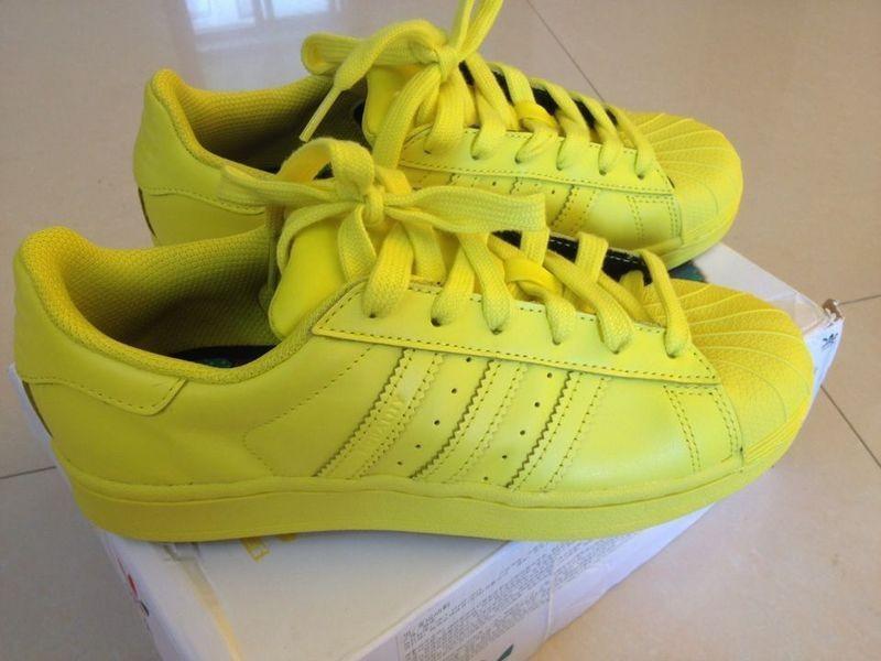 adidas superstar hommes jaune