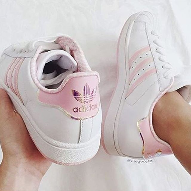 adidas superstar bande rose pale